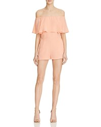 Endless Rose Ruffle Off The Shoulder Romper 100 Bloomingdale's Exclusive Blush