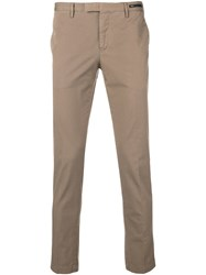 Pt01 Skinny Chino Trousers Neutrals