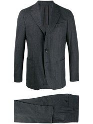 Caruso Two Piece Slim Fit Suit Grey