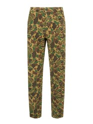 John Lewis And Co. Camo Print Trousers Green