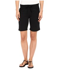 Mod O Doc Lightweight Cashmere French Terry Drawstring Pull On Shorts Black Women's Shorts