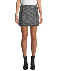 Cupcakes And Cashmere Lacie Tweed Mini Skirt Black