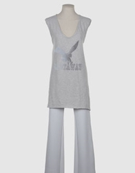 Virginie Castaway Sleeveless T Shirts Light Grey