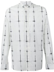 Saint Laurent Cross Detail Button Up Shirt White
