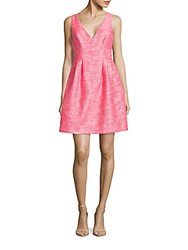 Betsey Johnson Textured Fit And Flare Dress Ivory Pink