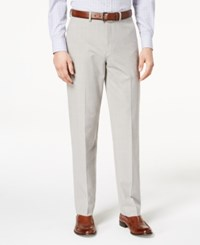 Ryan Seacrest Distinction Men's Ultimate Moves Modern Fit Stretch Light Gray Windowpane Suit Pants Created For Macy's Grey