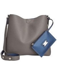 Styleandco. Style Co. Clean Cut Reversible Crossbody Only At Macy's Grey Pearl Blue