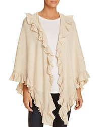 Minnie Rose Ruffle Shawl Sandstone