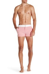 Mr Turk Bartlett Mini Check Swim Trunk Pink