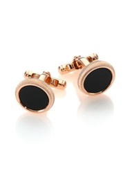 Dunhill Roller Cuff Links Onyx Gold