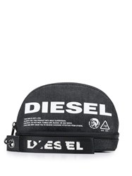 Diesel New D Easy Zipped Pouch Grey