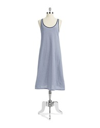 Lord And Taylor Long Tank Chemise Navy