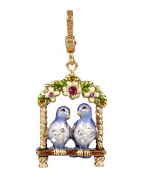 Lucy And Carl Lovebirds Charm Jay Strongwater Multi Colors