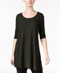 Eileen Fisher Jersey Scoop Neck Tunic A Macy's Exclusive Charcoal