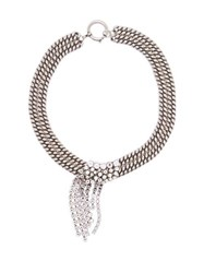 Isabel Marant Layered Crystal And Chain Necklace Crystal