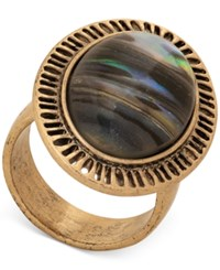 Lucky Brand Gold Tone Abalone Look Statement Ring