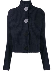 The Row Button Up Cardigan Blue
