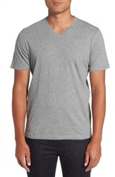 Zachary Prell Men's Mercer V Neck T Shirt Heather Grey