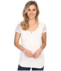 Ariat Keller Top Snow White Women's Short Sleeve Pullover