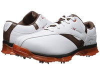 Callaway X Nitro White Brown Orange Men's Golf Shoes