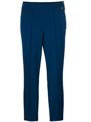 Twin Set Classic Cropped Trousers Blue