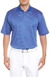 Bobby Jones Men's Dot Stripe Golf Polo Marina