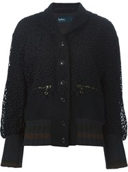 Kolor Lace Overlay Bomber Jacket Black