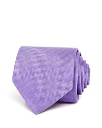 Eton Of Sweden Textured Herringbone Classic Tie Purple