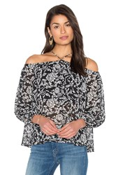 Heartloom Abigail Top Black And White