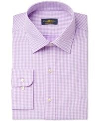 Club Room Estate Wrinkle Resistant Plum Twill Check Dress Shirt Only At Macy's