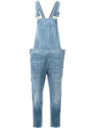 Citizens Of Humanity Distressed Overalls Blue