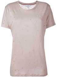 Iro Cut Out Detail T Shirt Pink Purple