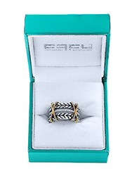 Effy Super Buy Diamond 18K Yellow Gold And Sterling Silver Ring