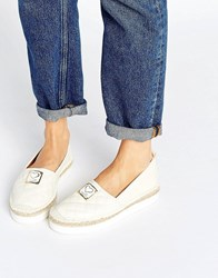 Love Moschino Quilted Espadrilles White