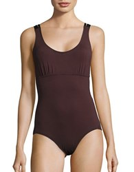 Coco Reef Sun Daze Bra Sized One Piece Swimsuit Brown