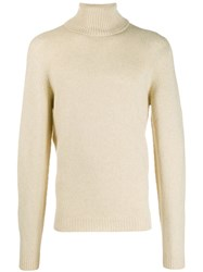 Roberto Collina Roll Neck Fitted Sweater Neutrals