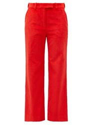Hillier Bartley Straight Leg Corduroy Trousers Red