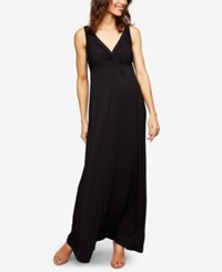 A Pea In The Pod Twist Front Maxi Dress Black