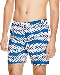 Original Penguin Palm Print Volley Board Shorts 100 Bloomingdale's Exclusive True Blue