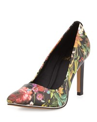 Elliott Lucca Catalina Floral Pointed Toe Pump Autumn Botanical