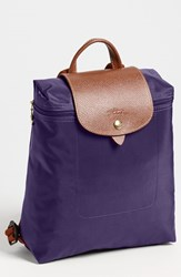 Longchamp 'Le Pliage' Backpack Purple Bilberry
