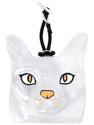Loewe Clear Cat Bag Charm Metallic