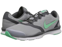 Nike In Season Tr 4 Wolf Grey Dark Grey White Green Glow Women's Cross Training Shoes Gray