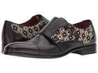 Etro Woven Monk Black Men's Shoes