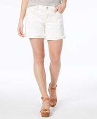 Lucky Brand Frayed Hem 5 Shorts Clean White