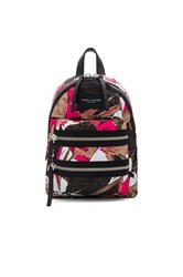 Marc Jacobs Palm Printed Biker Mini Backpack Brown