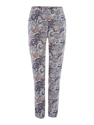 Soaked In Luxury Paisley Print Trousers Multi Coloured