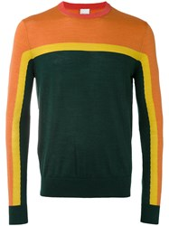Paul Smith Colour Block Sweater Men Silk Merino M Yellow Orange