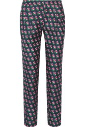 Diane Von Furstenberg Leni Printed Silk Twill Tapered Pants