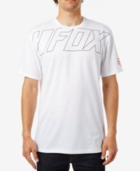Fox Men's Graphic Print T Shirt Optic White